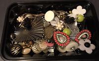 (8) Job Lot Bundle Pierced Mixed Studs Dangle Earrings Pairs