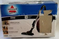 Bissell Zing Bagged Canister Vacuum, Maroon, 4122 - Corded - Lightweight