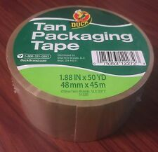 "1 ROLLS TAN Duck Packaging Packing Carton Shipping Duct Tape 1.88"" x 50 yards"