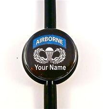 ID STETHOSCOPE NAME TAG AIR BORNE,MEDICAL RN,NURSE,DR.TECH,NAVY,ARMY,MARINE,AIR