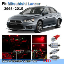 For 2008-2015 Mitsubishi Lancer Premium Red LED Interior Lights Kit 7 Pieces