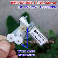 Micro WFF-050SH-11180 Gear Motor DC 5V~12V 16800RPM High Speed Worm Gear Shaft