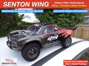 Carbon Fiber Wing Spoilers UPGRADED for ARRMA SENTON BLX MEGA Full Kit