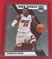 2019-20 Panini Mosaic Kendrick Nunn Rookie NBA DEBUT Miami Heat #268 RC 🔥