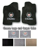 2002-2019 Cadillac Escalade Sport Carpet Front Floor Mats - Choose Color & Logo