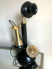 Reproduction  Candlestick Retro Phone Rotary Dial Home Office Decor Functional