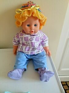 CHAD VALLEY CLEAN SOFT BODIED 14'' TALKING 'MAMA' DOLL  DRESSED