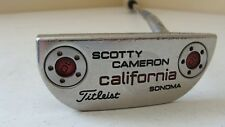 "Scotty Cameron California Sonoma 35""  RH putter Tiger Shark grip Used-see pics"