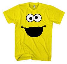 T-shirt Cookie Monster Face Funny Men Kids Shirt