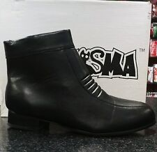 Elvis BRIGHT WHITE 100/% Leather Zip Boots Size USA Jumpsuit Era Costume 11