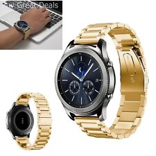 Strap Band For Samsung Gear S3 S2 Smart Watch 22mm Stainless Steel Metal Gold