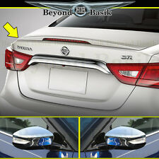 Fit 2016-2018 Nissan MAXIMA Factory PREMIUM Style Spoiler + Chrome Mirror Covers