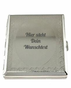 Zigarettenetui 20er Barock Zigarettenbox Metall mit kostenloser Wunschgravur