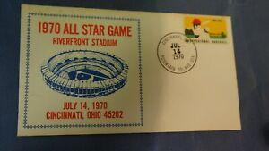 USA, Cincinnati, OH 1970 All Star Baseball Game, 7/14/70 (STAMP, POSTAGE, COVER)