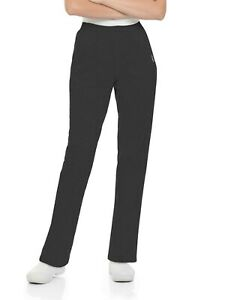 Landau Women's Classic Tapered Leg Scrub Pant, Style 8320, Black, Size PXS