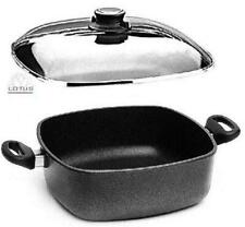 Lotus Cast Iron Pan Square Casserole 29cm B22cm H10,5cm Made in Germany + Lid