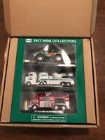 2017 Mini Hess Trucks Monster Truck, Truck w/Helicopter, Emergency Truck NIB