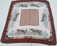 Foulard Bayron isa 100% silk pura seta carrè original made in italy vintage