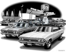 CHEVELLE 1968   MUSCLE CAR AUTO ART PRINT #1222   **FREE USA SHIPPING**