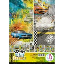 START YOUR ENGINES A4 Paper Pack 9 Double-Sided Sheets CIAO BELLA CBCL031 New
