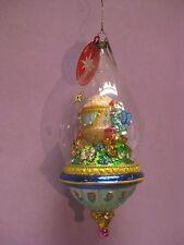 """Radko Dapper Dome Deluxe 8"""" Bunny On Coach In Dome Easter Ornament 1011631"""
