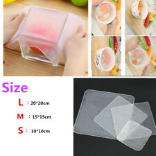 4pcs Reusable Silicone Plastic Wrap Seal Vacuum Food Fresh Wrap Kitchen Gadget