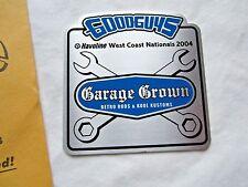"2004 Goodguys West Coast Nationals ""Garage Crown""  Retro Rods & Kustoms Plaque"