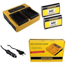 2x Batteria Patona + caricabatteria professionale dual LCD per Sony HDR-AS10