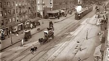 A0  print post vintage  old New York City 1900 black white photo USA