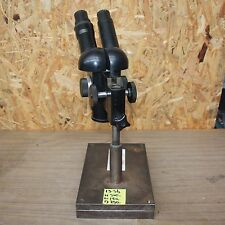 AUS JENA 451957 Microscope Stand Metrology Inspection 25x eyepeice 1.6-0.63x mag