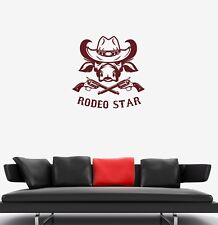 Wall Decal Red Bull Head Star Rodeo Sport Extreme Vinyl Sticker (ed1175)