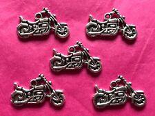 Moto/Bicicleta De Plata Tibetana Dijes De 5 por paquete