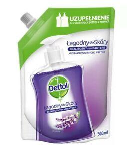 Dettol Antibacterial Handwash liquid soap no touch Refill Lavender 500ml uk fast
