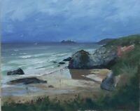 Gwithian beach in Cornwall Acrylic Painting
