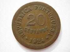 Portugal 1924 20 Centavos VF