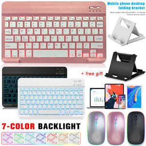 For Lenovo Tab M10 FHD Plus X505/X605/X606F Backlit Keyboard+Mouse+Stand Holder