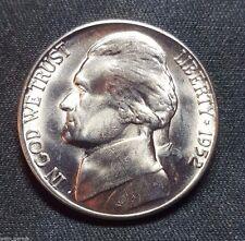 1952 S BU Jefferson Nickel, Beauty, Mintage of Only 20.5 Mil, Free Ship