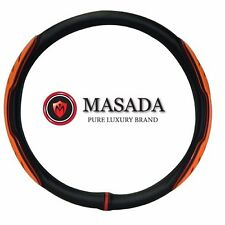 Gauss Lux M luxury  steering wheel cover Orange color 380 mm M-size Gift for man