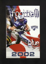 Air Force Falcons--2002 Football Pocket Schedule--Air Academy FCU