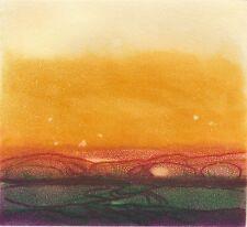 Gravure Anne Walker originale aquatinte signée numérotée paysage abstrait 1990