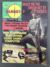 More details for blakes 7 monthly magazine no3 december 1981 christmas star wars on back cover