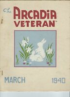 MC-236 - The Arcadia Veteran March 1940, Hope Valley RI, CCC Civilian Conserv