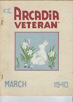MC-236 - The Arcadia Veteran March 1940, Hope Valley RI, CCC Civilian Conserv