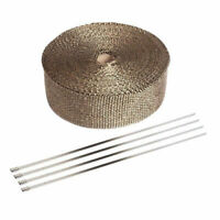 """Titanium Exhaust Pipe Insulation Thermal Heat Wrap 1.5"""" x 5M Motorcycle Header"""