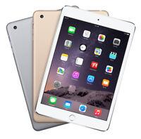 Apple iPad Mini 3 16GB 64GB 128GB Silver Gold Retina Display WiFi & 4G Unlocked
