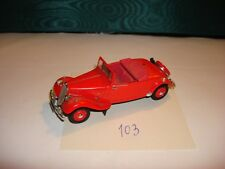 VOITURE MINIATURE (103) U H 1/43 CITROEN TRACTION ROADSTER 1938