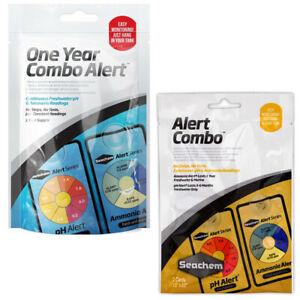 Seachem Alert Combo pH & Ammonia Monitor 6 month/1 year Water Test Fish Tank