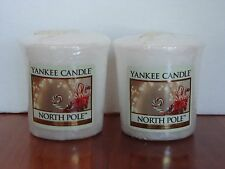 """Yankee Candle Votive Candles """"North Pole"""" 1.75 oz Set of 2 New"""