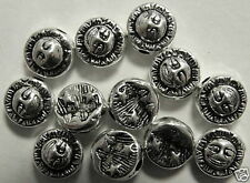 Versilberte Tuareg-rondellperlen Aus Kupfer 7stk Der GüNstigste Preis Gr.s geschmiedet- Ca.12x8mm