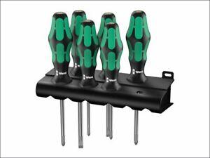 Kraftform Plus Lasertip 334/355/6 Screwdriver Set, 6 Piece SL/PZ WER105656
